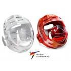 Шлем защитный с маской (красный, белый)